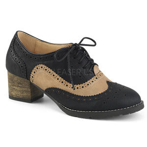 "Shoes - 2"" Heel Spectator Wingtip Lace Up Oxford Brogue"